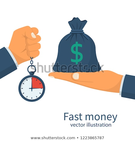 Quick cash dollar icon graphic design template illustration Stock photo © haris99
