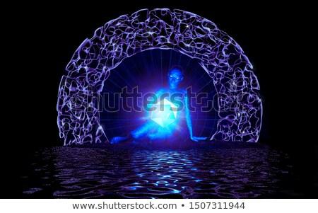 Foto stock: Fantástico · portal · otro · mundo · virtual