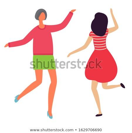 Dans kadınlar geri görmek Stok fotoğraf © robuart