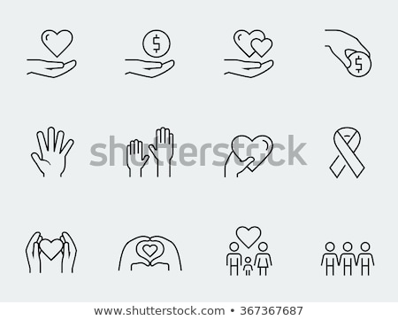 Volunteers Support Person Vector Thin Line Icon Stock photo © pikepicture