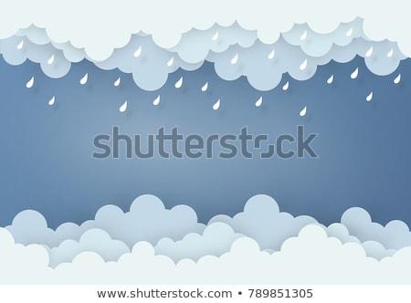 Creative дождь облаке радуга дизайна Сток-фото © ussr