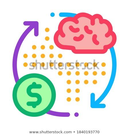 мозг цикл деньги икона вектора Сток-фото © pikepicture