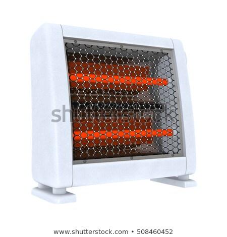 Home white heater isolated on white. Winter heating Stock photo © galitskaya