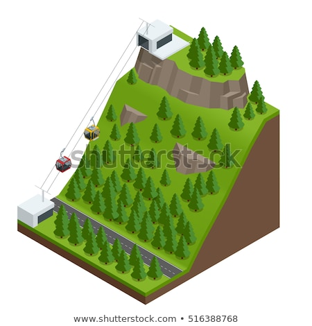 Alpinism Isometric Icons Set Vector Stock photo © pikepicture