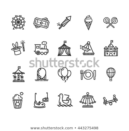 Zamek wesołe miasteczko ikona wektora ilustracja Zdjęcia stock © pikepicture