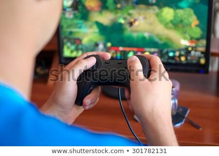 Tieners spelen computer games vrouw huis Stockfoto © photography33