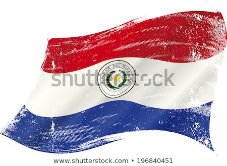 グランジ フラグ パラグアイ 古い ヴィンテージ グランジテクスチャ ストックフォト © HypnoCreative