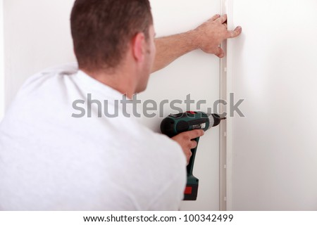 tradesman using a power drill stock photo © photography33