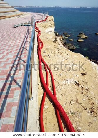 электрические установка работу домой кабеля промышленных Сток-фото © LianeM