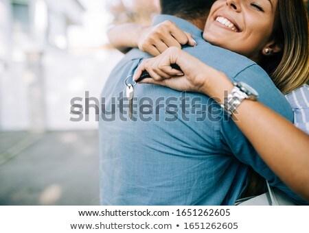 happy couple celebrating their new apartment stock photo © photography33