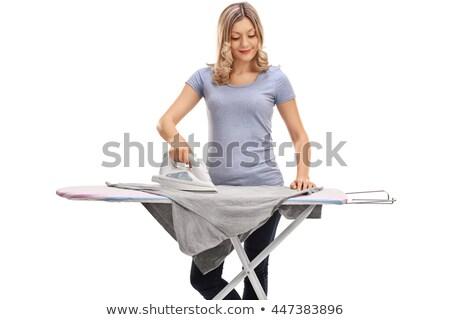 woman ironing isolated Stock photo © smithore