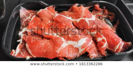 Fresh Sliced raw beef  Stock photo © ilolab