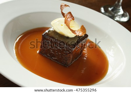 Sticky toffee pudding Stock photo © danielgilbey