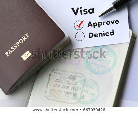 bélyeg · VISA · bevándorlás · utazás · üzlet · biztonság - stock fotó © melpomene