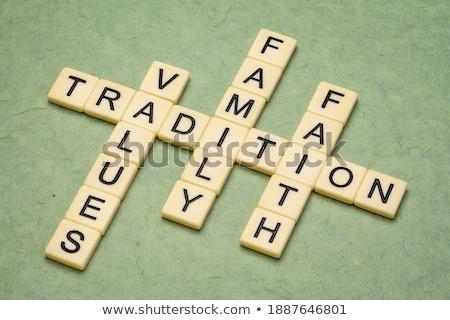 Family concept crosswords Stock photo © raywoo