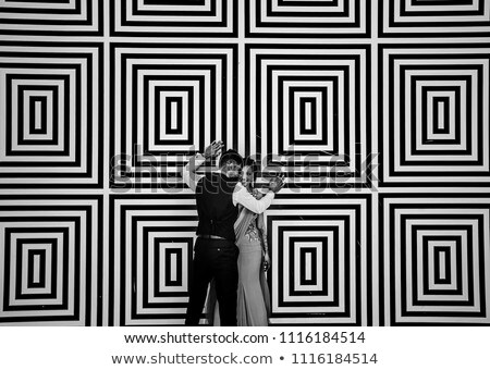 Mosaic of  happy couple at the park Stock photo © photography33