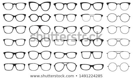 レトロな 眼鏡 サングラス 白 眼 ファッション ストックフォト © FOKA