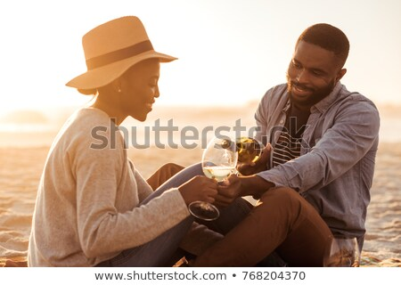 Smiling man pouring wine Stock photo © photography33