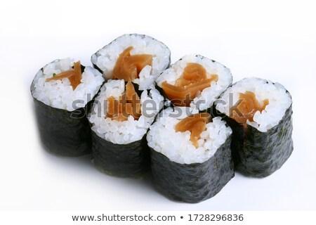 Aszalt hínár tekercsek étel csillag Stock fotó © zzve