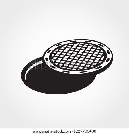 Icon manhole Stock photo © zzve