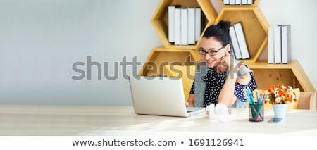 papier · schip · vrouwelijke · hand · witte · vrouw - stockfoto © chesterf