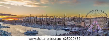 view over marseille france stock photo © dinozzaver