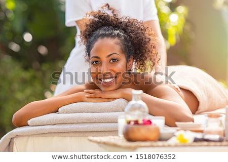 Bien-être femme massage spa traditionnel Retour Photo stock © Kzenon