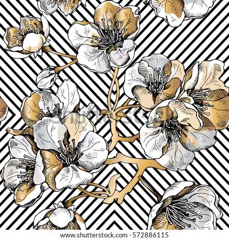 Geométrico flor ornamento vegetal textura Foto stock © LittleCuckoo