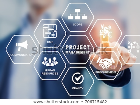 project management and business concept words in hexagons stock photo © marinini