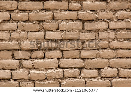 brown adobe bricks stock photo © rhamm