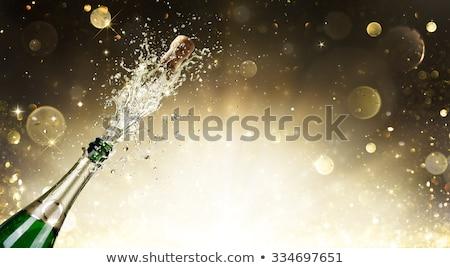 a bottle of sparkling champagne  Stock photo © OleksandrO