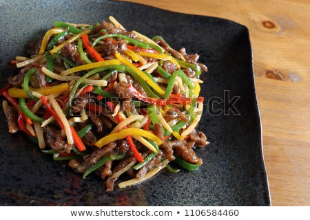 chinês · carne · legumes · típico · frito - foto stock © keko64
