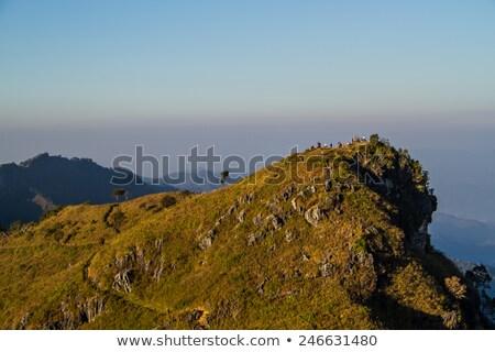 Kő Omán kép híres égbolt férfi Stock fotó © w20er