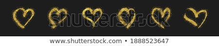 Gold heart patterned background 6 Stock photo © randomway