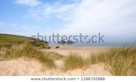 Cornwall dramatik gün batımı deniz kum kaya Stok fotoğraf © chris2766