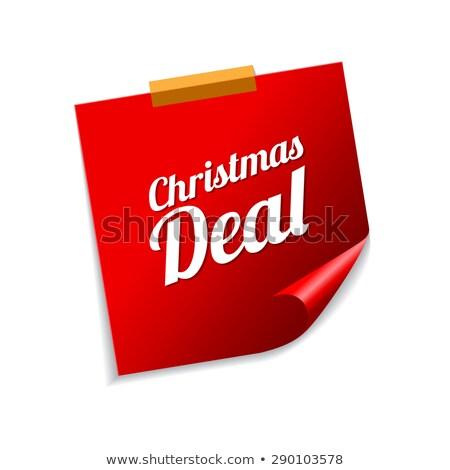 Noel anlaşma kırmızı vektör ikon Stok fotoğraf © rizwanali3d