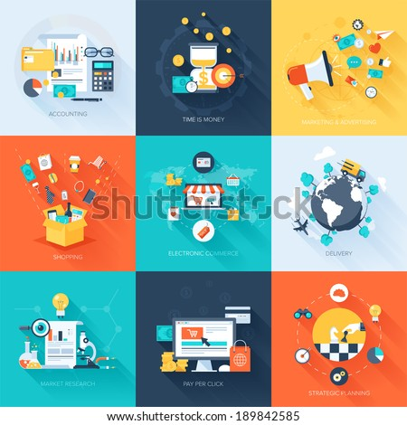 Business Strategy Concept Flat icon Stock photo © WaD