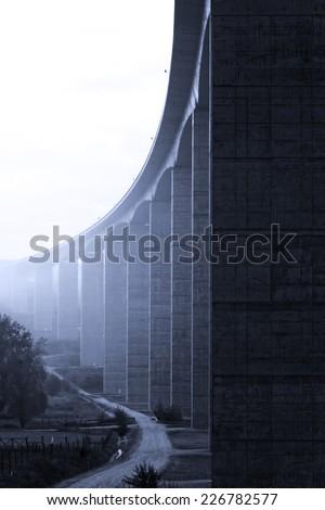 Autostrady Węgry mglisty Świt jesienią Zdjęcia stock © Nneirda