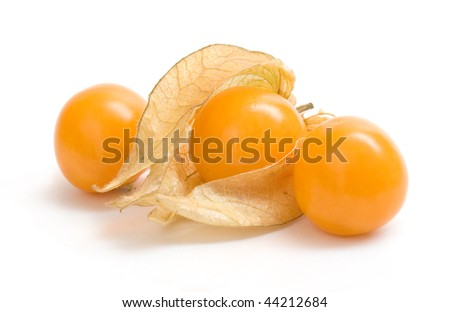 Fresh berry of cape gooseberry on a white background. Stock photo © mcherevan