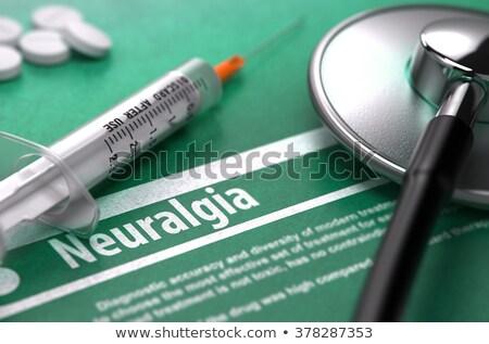 診断 · 閉経 · 医療 · 3dのレンダリング · レポート · 青 - ストックフォト © tashatuvango