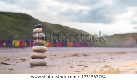 Sea landscape with rocks and tower. Stock photo © vapi