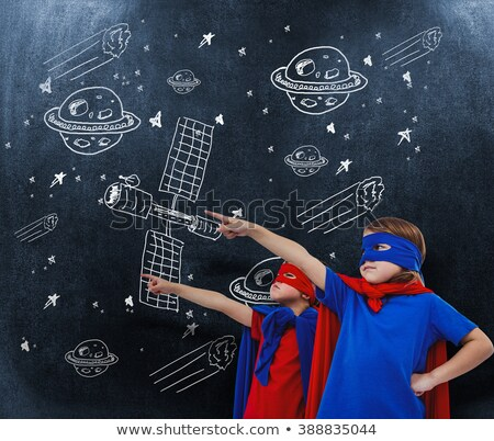 composite image of masked kids pretending to be superheroes stock photo © wavebreak_media