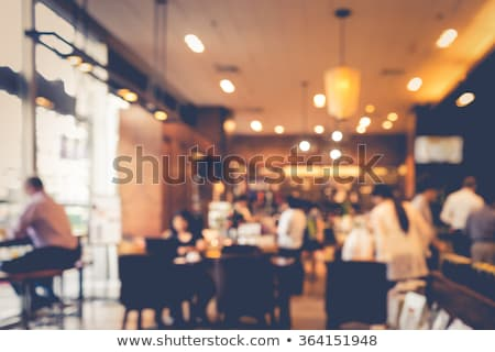 restaurant interior bokeh stock photo © dolgachov