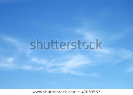 белый облака Blue Sky весны пейзаж пространстве Сток-фото © alinamd
