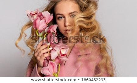 Portret mode jonge blond model Stockfoto © majdansky