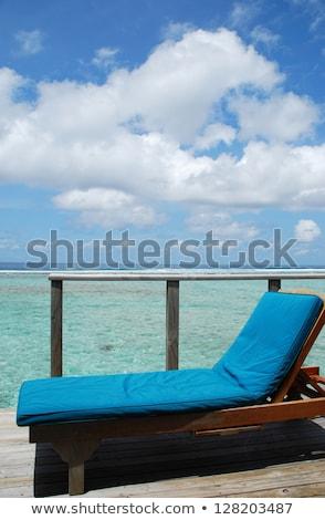 Marina agua Villa Maldivas Resort Foto stock © luissantos84