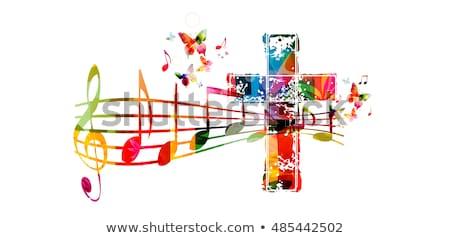 Música vida religião homem fones de ouvido Foto stock © kentoh