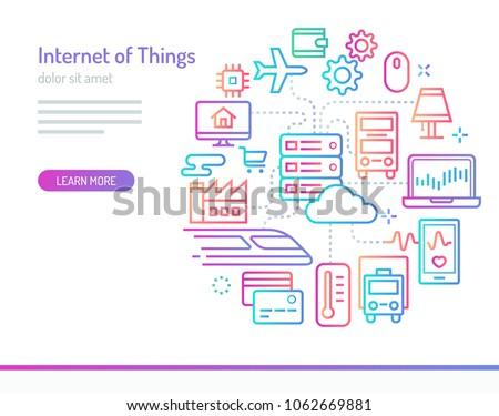 Internet · işler · hat · ikon · akıllı · ev - stok fotoğraf © conceptcafe