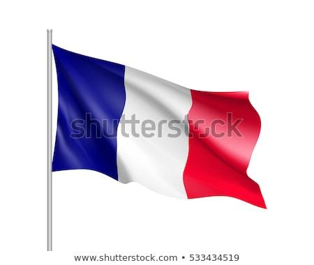 Illustration of EU Flag and flag of France, isolated white Stock photo © tussik