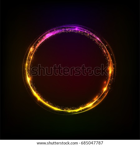 Сток-фото: Abstract Background With Luminous Swirling Backdrop